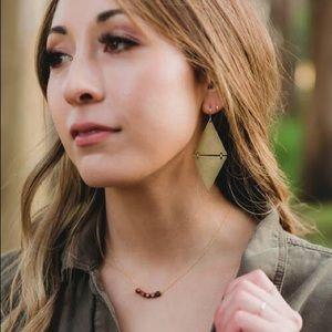 Mandera Choker Small Wood Block Choker Necklace